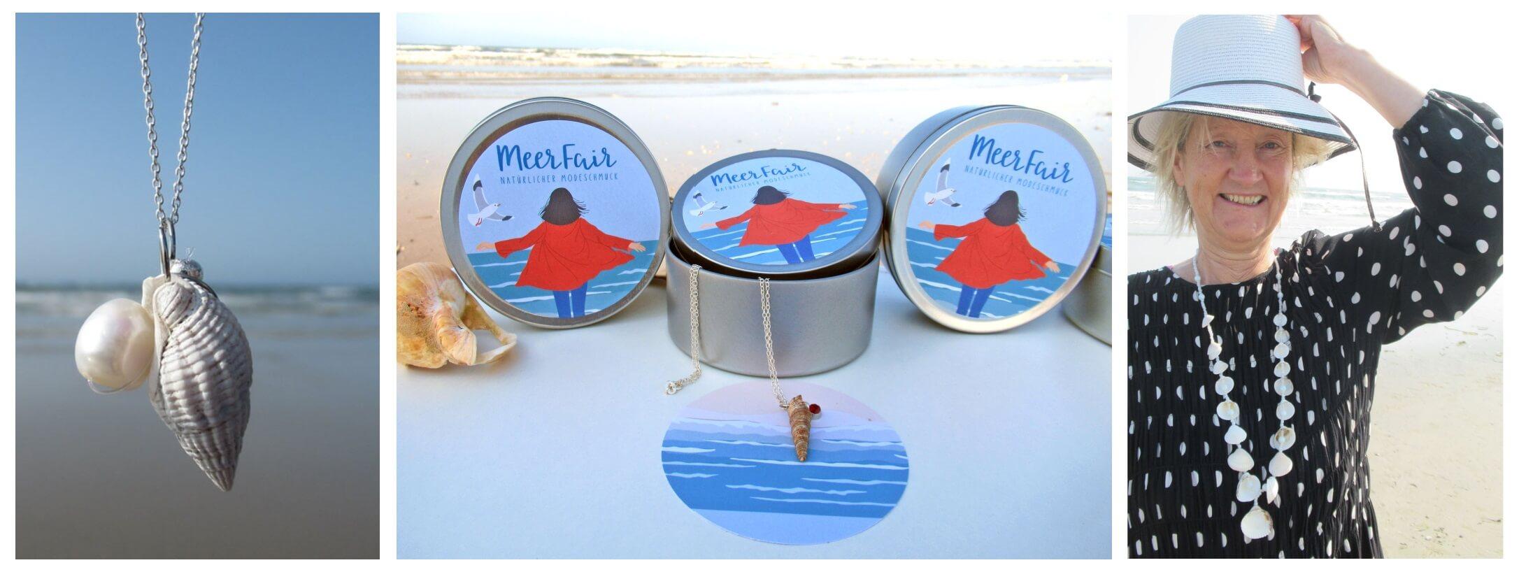 Meerfair Titelbild, nachhaltiger Schmuck im exklusiven Design. Maritimer Modeschmuck online kaufen bei Meerfair
