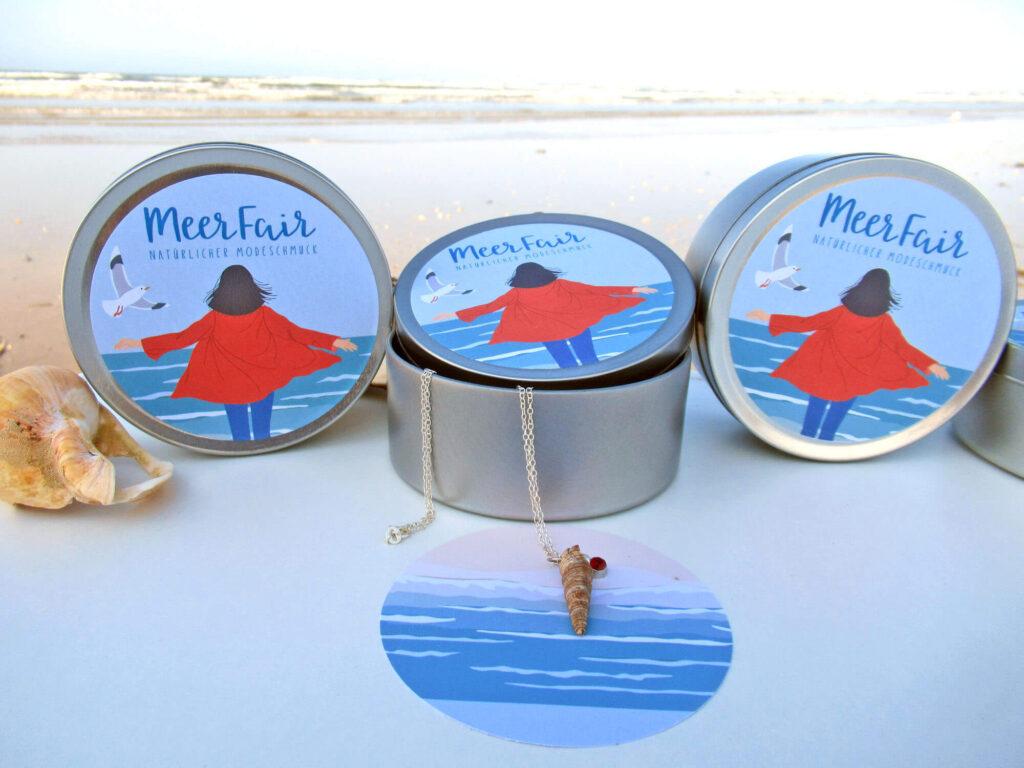 Meerfair natürlicher Schmuck mit Schmuckaufbewahrung aus Upcycling Materialien online kaufen