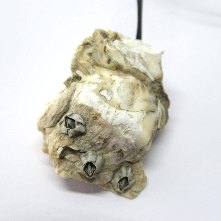 Natur pur: Austermuschel mit natürlichem Finish als Kettenanhänger