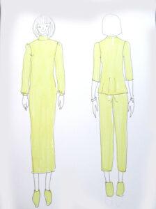 Modeskizze gelb